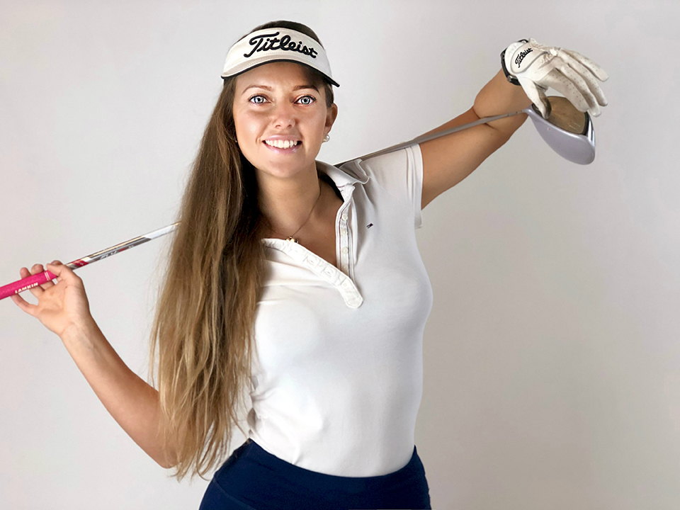 Kasia Ferenczuk golfing golfer golf fitness tpi ireland yoga pilates galway instructor