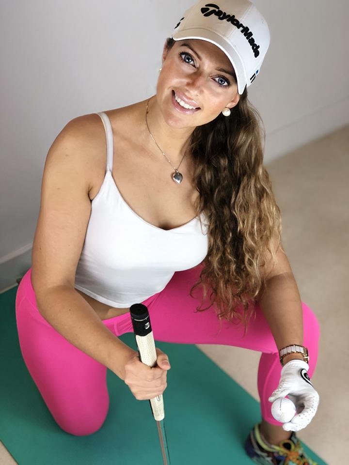 lady golfer Kasia Ferenczuk Fitness TPI Yoga Pilates